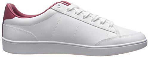 Fred Perry Hopman Leather White Red Blue Weiß