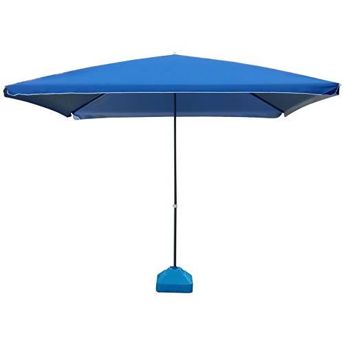Ywqwdae Schirm gerade Faltbarer Sonnenschirm rechteckiger versetzter viereckiger UV-Dichtedurchmesser 3m ohne Sockel
