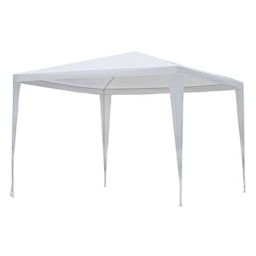 Outsunny Carpa Impermeable de Jardín Acero Oxford Blanco 3x3m