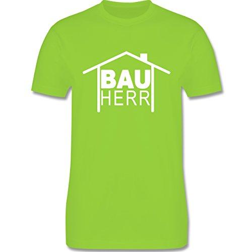 Sprüche - Bauherr Heimwerker - Herren Premium T-Shirt Hellgrün