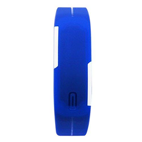Demiawaking Orologio da Polso di Sport Digitale Unisex Sport LED Esecuzione Orologio Bracciale per Bambini (Blu Marino)