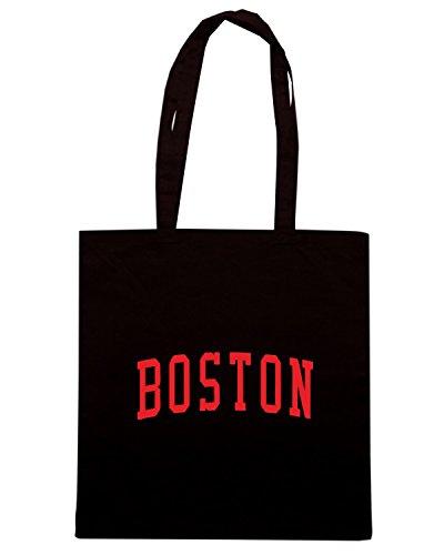T-Shirtshock - Borsa Shopping TSTEM0214 vintage boston ma black logo Nero