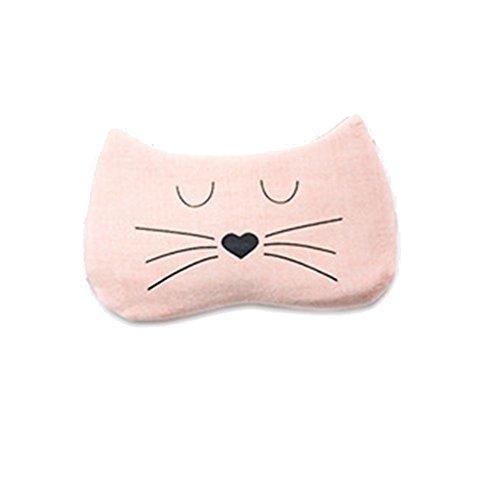 Scrox Schlafmasken, minimalistischer Stil, Farbe Bonbon, Augenmaske mit Eisbeutel, warme oder kalte Pflege, ideal für Schlaflosigkeit und Augenmüdigkeit, Orange, 19 * 12CM -