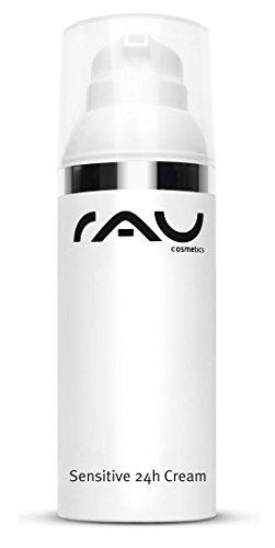 RAU Sensitive 24h Cream 50 ml - Crème de jour et de nuit pour les peaux sensibles et sèches. Crème visage sans Glycérine. Soin hydratant avec huile de tournesol, squalane, acide hyaluronique, Urea et céramides.