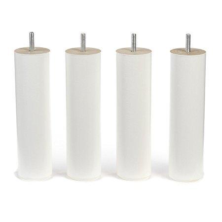COREME Patas 25cm Color Blanco, jeu de 4 Pieds, 25