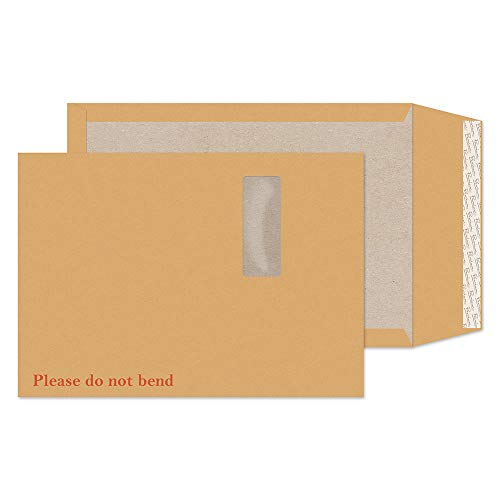 (Avant Garde Premium C4 229 x 324 mm haftklebend, Extra starkes Manila-Papier mit Tasche an der Rückseite, cremefarben, 100 Stück)