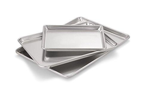 Artisan Professional Classic Aluminium-Backblech mit Rand Klassiches Aluminum, 3er-Pack 13x9.5