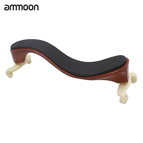 Ammoon Violinen-Schulterstütze / Schulterkissen, aus Ahorn-Holz für 3/44/4Geige, mehrfarbig, mit Reinigungstuch