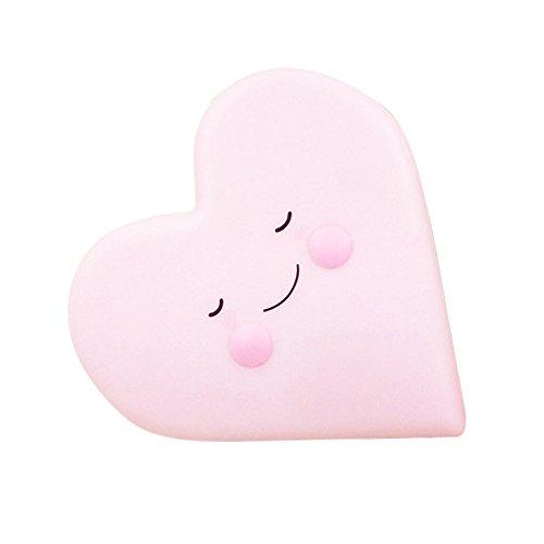 Herzförmige Weiche Vinyl Led Nachtlicht Spielzeug Für Baby Kinder Schlafzimmer Dekoration Kinderzimmer Lampe (Rosa) -