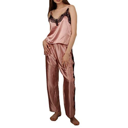 Hemdchen Und G-string Set (Obestseller Mode Damen Sexy Dessous Große Größe Babydoll Spitze Silks Nachtwäsche G-String Set Unterwäsche Frauen Pyjamas Nachthemd Body Schlafanzug Underwear)