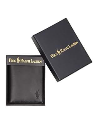 Ralph Lauren - Portefeuille avec fenêtre hommes - aspect souple - noir