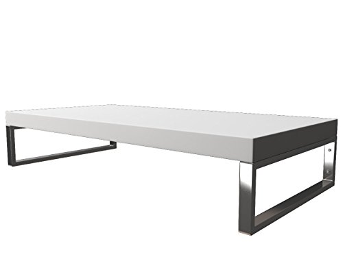 KeraBad Waschtischplatte Waschtischkonsole für Aufsatzwaschbecken und Waschschalen Holzplatte Badmöbel Tischplatte 100x50x5cm Weiss Matt kb-wt50120weissm-6