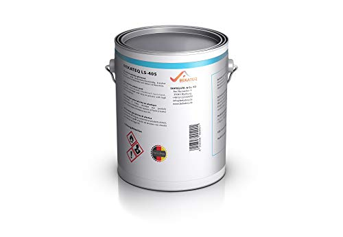 Bekateq Poolfarbe LS-405, 0,75KG, RAL9005 Schwarz glänzend, 2-K Farbe für Schwimmbecken, Pools oder Teiche aus Glasfaserkunststoff, GFK oder Polyester