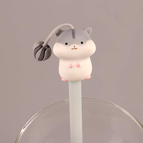 Teenage Herz Stift, niedliche kreative schwarze Stift, niedliche Keimung Wasser Stift, Student Persönlichkeit neutralen Stift 0,5 mm Hamster