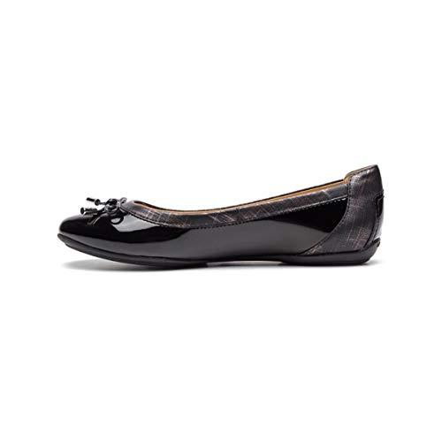 Geox Damen KlassischeBallerinas Charlene, Frauen Ballerinas,Flats,Sommerschuh,klassisch elegant,SCHWARZ,37 EU / 4 UK -