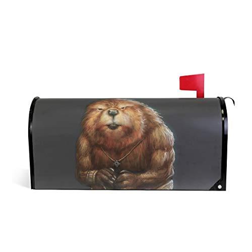 Crazy Hexe (HEOEH Crazy Animal Mr. Beaver Magnetbriefkasten-Abdeckung, für Haus und Garten, 63,5 x 5,8 cm 64.7x52.8cm Mehrfarbig)