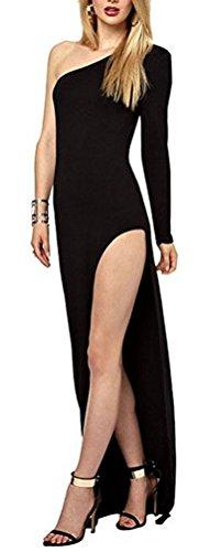 SunIfSnow Damen Schlauch Kleid, Einfarbig Gr. M, (Kleid Red Teen M&m Tank)