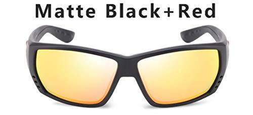 HUILIN Polarized Sonnenbrillen Herren Markendesign Driving Fishing Sonnenbrillen Herren Square Brillen UV400, mit Verpackung, C5