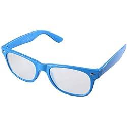 Nerdbrille in blau