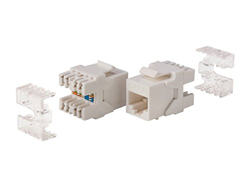 Monoprice Cat6 RJ Keystone weiß Punch Down Systeme Surface Mount Box