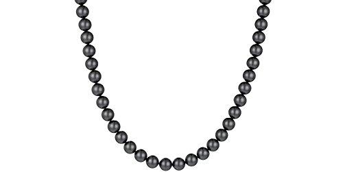Clio Blue New Atelier perle di Collana in argento 925, con perle Swarovski, 37,2 g, colore: nero