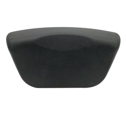 Frcolor Luxus-Spa-Bad-Kissen-Bad-Kissen mit rutschfesten Saugnäpfen für entspannenden Kopf Hals Rücken und Schultern (schwarz) -