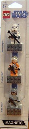 LEGO® Star Wars Magnetset: Y-wing Pilot der Rebellen, Stormtrooper des Imperiums und AT-ST Pilot
