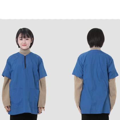 High Grade Pet Uniform Waterproof Antiestático Teñido Transpirable Esteticista Dedicado Múltiples Colores Disponibles,Blue