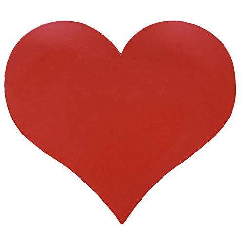 10er Pack - Magnetherzen für das Auto - Auto Schmuck für Hochzeit oder Valentinstag (Rot matt)