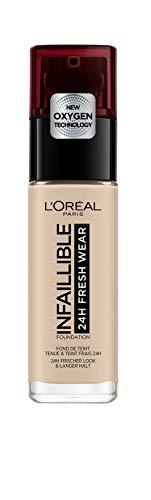L'Oréal Paris Infaillible 24H Fresh Wear Make-up 15 Porcelain, hohe Deckkraft, langanhaltend, wasserfest, atmungsaktiv, 30ml