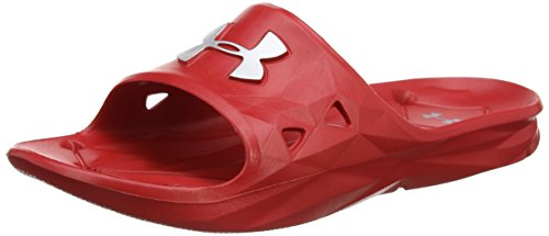 Under Armour Herren Locker III Sl Dusch & Badeschuhe, Rot (Red 600), 47.5 EU - Tom Rot Männer Schuhe