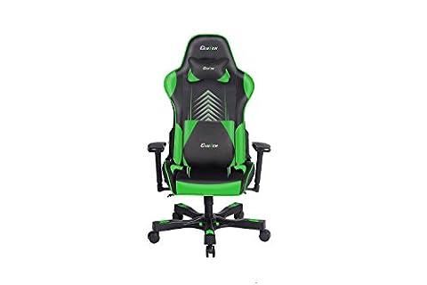 Embrayage Chairz Premium Gaming/chaise de bureau, Noir et Vert, 1-pack