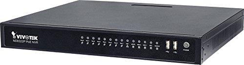 VIVOTEK 21191642 ND8422P, Netzwerk-Video-Rekorder (NVR) mit 16 Kanälen, 8-Port PoE, 2 Festplatteneinschüben und lokalem Displayanschluss (Nvr 8 Port)
