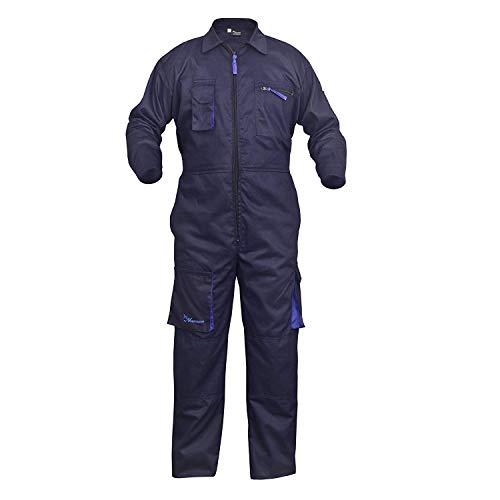NORMAN Marineblau Arbeitskleidung Herren Latzhose Monteuranzug Overalls Mechaniker Blaumann Schützende – Marineblau, Large - 2