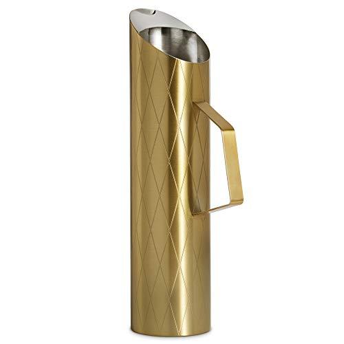 (VonShef Wasserkrug gebürstetes Gold Karaffe Edelstahl 1,7 Liter /3 Pints mit Eisschutz)