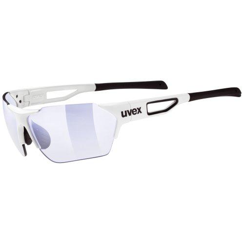 Uvex Erwachsene Sportstyle 202 Small Race VM Sportsonnenbrille, white/len variomatic litemirror blue, One size