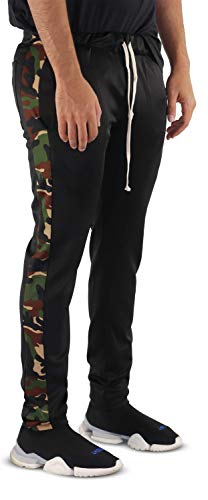Athletic Track Pants (Herren Active Track Hipster Tapered Striped Pants Casual + Running Athletic Track Pants - Made in USA - Mehrfarbig - XX-Large)