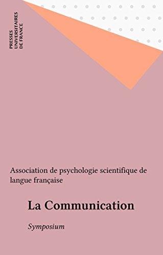 Livres gratuits en téléchargement La Communication: Symposium PDB