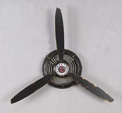 nouler Vintage Industrial Wind Wall Clock Propeller Wall Hanging Wall Hanging Pendant, Black, One Size