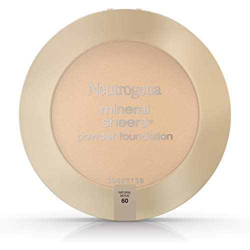 Sheer Finish Compact Foundation (Neutrogena Mineral Sheers Powder Foundation, Natural Beige 60, 0.34 Ounce by Neutrogena)