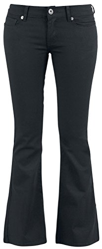 Black Premium by EMP Corded Extra Boot (Boot-Cut) Pantaloni donna nero W36L34