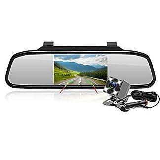 Podofo-Rckfahrkamera-43-Zoll-LCD-TFT-Bildschirm-Rckspiegel-4-LEDs-Mini-wasserdichte-Nachtsichtkamera-170-Grad-leicht-zu-installieren