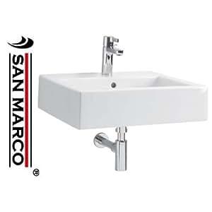 Lavabo bagno Pozzi Ginori Closer con bacino rettangolare 50 cm