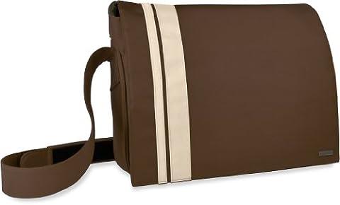 Speedlink Courier Umhängetasche für Laptop 46,7 cm (18,4 Zoll) (verstellbarer Schultergurt, Klettverschluss, extra großes Notebookfach) braun