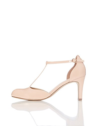 FIND Damen Mary Jane-Schuhe, Pink (Nude), 38 EU