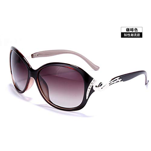 LETAM Sonnenbrille Polarisierte Sonnenbrille Frauen Sonnenbrille UV400 Schutz Mode Sonnenbrillen mit Strass Sonnenbrille weiblich