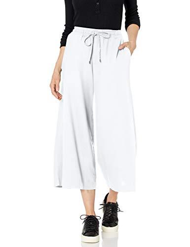 Chaps Damen Cropped Linen Blend Pant Freizeithosen, weiß, Klein White Linen Cropped Pants