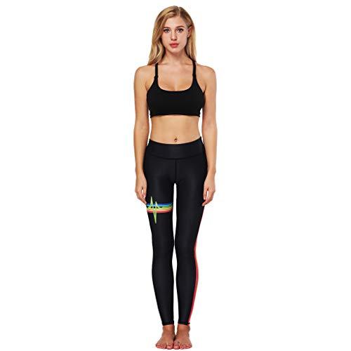 Winkey  Yoga Pants, Frauen Yoga Strumpfhose Fitness Sport Fitness Laufen Jogginghose Mode Regenbogen Digitaldruck Strumpfhose Sporthose -
