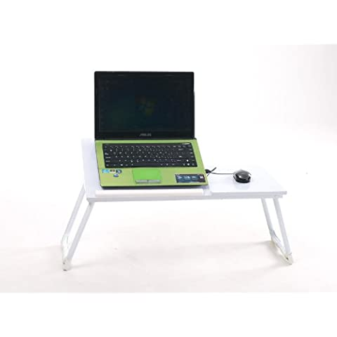 Coavas cama mesa de mesa para portátil blanco