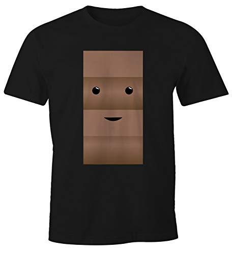 MoonWorks® Herren T-Shirt Milch und Schokolade Kostüm Parnterkostüm Pärchen Kostüm Fasching Karneval schwarz ()